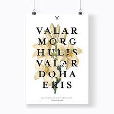 Valar Morghulis, Valar Dohaeris Print - Game of Thrones Poster - That Black ... https://www.amazon.com/dp/B01N0ZON00/ref=cm_sw_r_pi_dp_x_-maBzb3S3X2FG