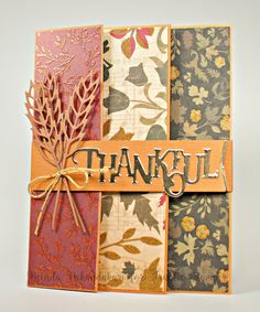 Thankful Trifold Card Tutorial Thankful Trifold Card Tutorial, Frantic Stamper Dies, Stamping as Fast as I Can! Tri Fold Cards, Fancy Fold Cards, Folded Cards, Joy Fold Card, Diy Thanksgiving Cards, Thanksgiving Drinks, Thanksgiving Cookies, Thanksgiving Nails, Thanksgiving Traditions