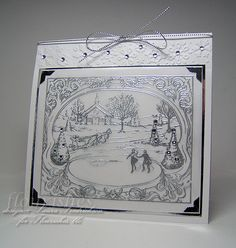 Silver-Postcard Flourishes