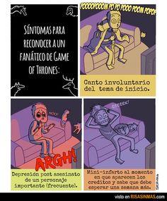 Síntomas para reconocer a fanáticos de Juego de Tronos.