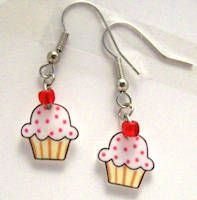 Cup cake earring. For the child who lives inside of me.