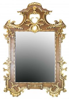 ROCOCO STYLE CARVED COMPOSITION MIRROR