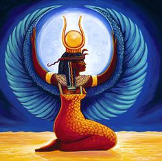 Egyptian Goddess Isis - Fertility Goddess and Goddess of magic and healing are some of her most important roles.