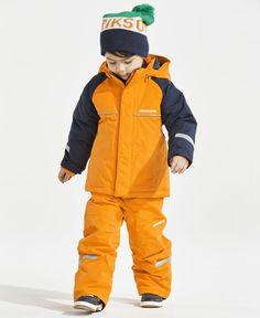 Didriksons Idde Kids Boys Girls Winter Coat JacketNavy