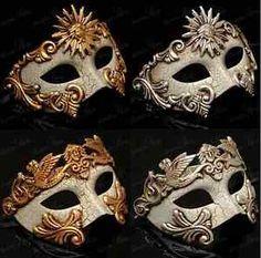 Men Venetian Masquerade Mask Vintage Design Half Mask Masquerade ...