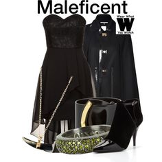 Maleficent by wearwhatyouwatch on Polyvore featuring moda, Laona, Dsquared2, 3.1 Phillip Lim, Azhar, Pluma, wearwhatyouwatch and film