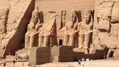 Abu Simbel, Egypt:  In 1257 BCE, Pharaoh Ramses II (1279-13 BCE) had two temples carved out of solid rock at a site on the west bank of the Nile south of Aswan in the land of Nubia and known today as Abu Simbel. The temple built by Ramses was dedicated to the sun gods Amon-Re and Re-Horakhte. Because of their remote location near the Sudanese border in sourthern Egypt, the temples were unknown until their rediscovery in 1813.