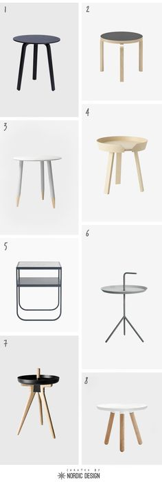 Curated: Scandinavian side tables | NordicDesign