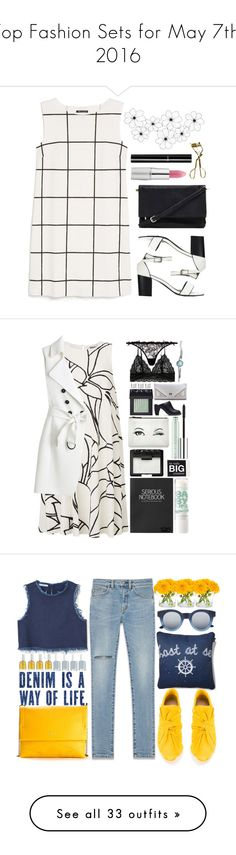 """Top Fashion Sets for May 7th, 2016"" by polyvore ❤ liked on Polyvore featuring MANGO, Forever 21, TheBalm, Chanel, MAC Cosmetics, Agent Provocateur, Topshop, NARS Cosmetics, Kate Spade and Clinique"
