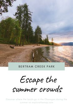 Bertram Creek Regional Park is one of our favourite destinations on Okanagan Lake for casual hiking, sports, picnics, and escaping the crowds. Cool Places To Visit, Great Places, Newfoundland And Labrador, Picnic Area, Canada Travel, Amazing Destinations, Hiking Trails, British Columbia, Time Travel
