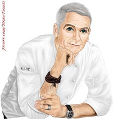 Good Looking Chef Ready to Cook - An art piece inspired by Hdesignerk on Fiverr.com/DrawTweets Art Illustrations, Illustration Art, Beautiful Drawings, Cartoon Drawings, Hand Drawn, Avatar, How To Look Better, How To Draw Hands, Art Pieces