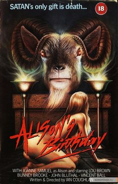 Alison's Birthday (1981) 1980s Horror Movies, Sci Fi Movies, Horror Films, Horror Art, Horror Movie Posters, Cinema Posters, Film Posters, Best Movie Posters, Movie Covers