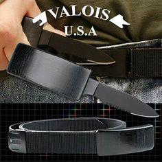 Hidden Belt Buckle Knife with Belt