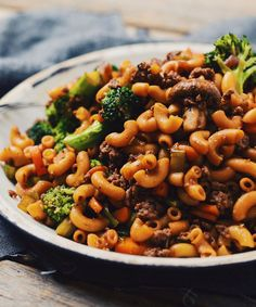 This chinese macaroni will always be welcome in my stomach. Asian Recipes, Beef Recipes, Cooking Recipes, Healthy Foods To Eat, Healthy Recipes, Hamburger Dishes, Greek Potatoes, Confort Food, Macaroni Recipes