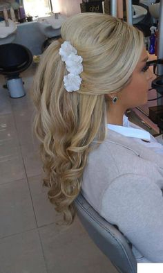 Simple wedding or prom hair