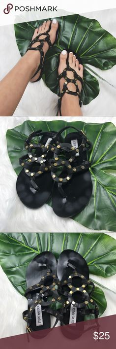 Steve Madden PBaits Gladiator Sandals In good used condition. Good studs show signs of wear adding a cool distressed look. Steve Madden Shoes Sandals