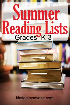 Want to keep your kids reading this summer?  Download these #free #reading lists by grade level from KirstenJoyAwake.com | Book suggestions for K-4 included.