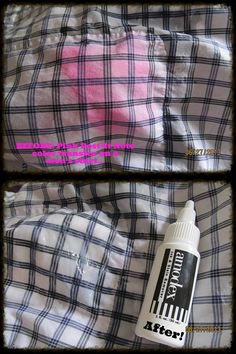 Dee A. sent us these great before and after pictures the other day. The stain was from a pink Post-It Note on her husband's shirt. She was thrilled Amodex took out the stain! Before And After Pictures, Husband, Note, Day, Shirt, Pink, Dress Shirt, Shirts, Pink Hair