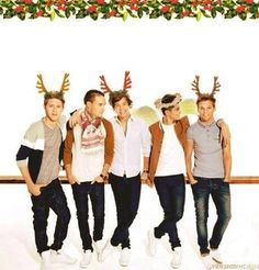 One Direction Christmas picture