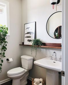 Introducing Gorgeous Small Bathroom Decor Ideas cool From time to time, all you have to make them feel welcome is some little suggestions for your guest bathroom. It is possible to also test out your dec. Small Bathroom Sinks, Bathroom Renos, Pedastal Sink Bathroom, Pedestal Sink Storage, Bathroom Mirror With Shelf, Small Sink, Bathroom Plants, Remodel Bathroom, Simple Bathroom