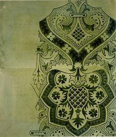 Wallpaper design for Houses of Parliament, Augustus Welby Northmore Pugin