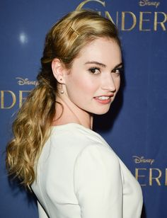 Lily James, looking just like my character Juliet.