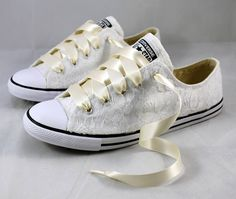 Bridal Converses Lace Converse Wedding Tennis shoes Bride Converse c1c8d4305