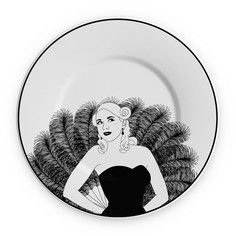 "Burlesque 10"" Plate Gigi, $29, now featured on Fab."