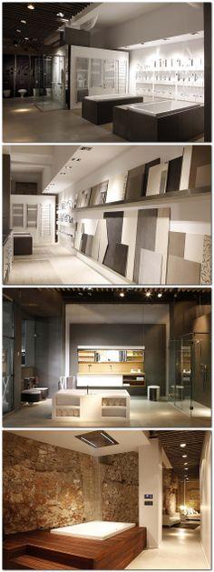 Gunni & Trentino abre en Barcelona un nuevo showroom Showroom Interior Design, Tile Showroom, Furniture Showroom, Be Design, Display Design, Store Design, Work Office Design, Jacuzzi, Bathroom Store