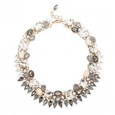 Sole Society - crystal and stone statement collar