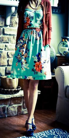Fun Spring outfit- love love love- will by more dresses-they're the best and laziest fashion statement EVER!