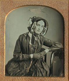 6th-plate Daguerreotype of Beautiful Young Lady ~ ca. 1840s Via: Ebay