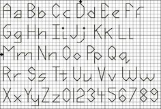 Backstitch Alphabet/Numbers Pattern