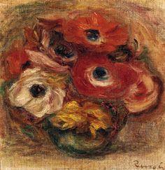 Bouquet d'anémones, Pierre-Auguste Renoir. (1841 - 1919)