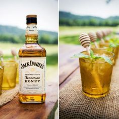 Alabama Honey Comb 1 ounce peach syrup 2 ounces Jack Daniels Honey 2 ounces Hops Pop Fresh mint