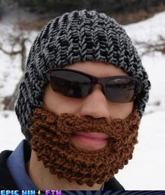 knitted beard, my husband is such a nerd and wants one of these....