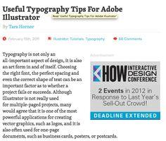 Useful Typography Tips For Adobe Illustrator By Tara Hornor