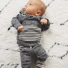 9bc2537ccc1f9 Lulu & Roo Dark Grey Jogger Outfit | Find Cute Terrycloth Jogger Outfits  for Babies