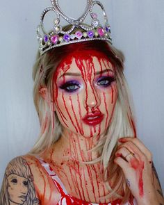 🥀CARRIE🥀 - halloween makeup - Halloween MakeUp and Kostume Halloween Tags, Halloween Face Makeup, Carrie, Carry On, Diy Jewelry, Make Up, Hairstyle Ideas, Hand Luggage, Carry On Luggage