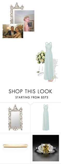 """""""(V) Attends a charity dinner with her husband"""" by immortal-longings ❤ liked on Polyvore featuring OKA, Elie Saab, Tiffany & Co. and Christian Louboutin"""