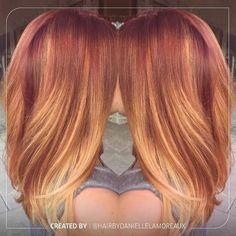 """""""It's the Look of the Week, and we are all about this luscious strawberry blonde look created by ! And we have the formula just…"""" - Looking for Hair Extensions to refresh your hair look instantly? focus on offering premium quality remy clip in Love Hair, Great Hair, Brown Blonde Hair, Red Hair Blonde Highlights, Blonde Ends, Red Ombre Hair, Black Hair, Strawberry Blonde Hair, Corte Y Color"""