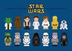 Star Wars - PixelPower - Amazing Cross-Stitch Patterns http://www.pixelpowerdesign.com/shop/movies/product/show/244-star-wars