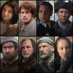 Outlander cast in Character -- God, they look fantastic!!  The actors, the costumes, the hair/makeup, the sets/locations.... I cannot wait, this show will be wonderful, I just know it.