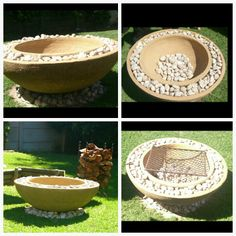 Plant pots+sand+river stones=diy boma(fire pit) in 2 hours....