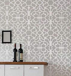 Geometric Wallpaper Patterns for Walls | Stencils, stencil designs, damask stencil patterns for walls. Stencils ...