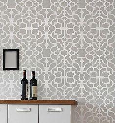 Geometric Wallpaper Patterns for Walls | Stencils, stencil designs, damask stencil patterns for walls. Stencils ...