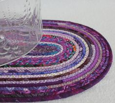 Purple Passion Oval Coiled Mat / Placemat / Hot Pad / Trivet by PrairieThreads via Etsy
