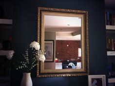 Picture frame mirror