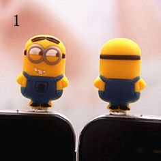 Despicable Me Port Dust Plug - iphone4 iphone 5 iphone4s iphone 5s Samsung Accessory phone accessory on Etsy, $2.99