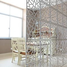 Plastic screens connecting together make a room divider. This room partition is a magician for your space, no matter in office decoration or house design, it is such a wonderful wall art that almost everybody will fall in love at the first sight. Office Room Dividers, Fabric Room Dividers, Wooden Room Dividers, Hanging Room Dividers, Sliding Room Dividers, Wall Dividers, Decorative Room Dividers, Dividers For Rooms, Metal Room Divider